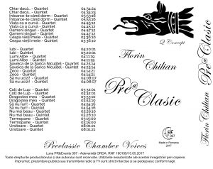 Pre@Clasic CD - Florin Chilian