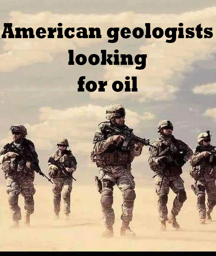 American geologists looking for oil
